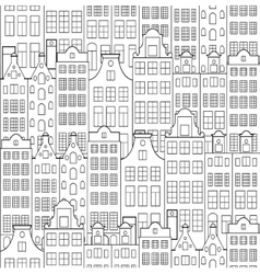 Pattern with old building vector