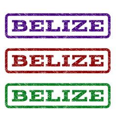 Belize watermark stamp vector