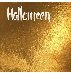 Halloween card with white lettering vector