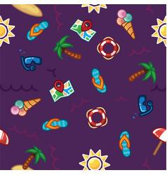 Pattern beach summer theme palm trees vector