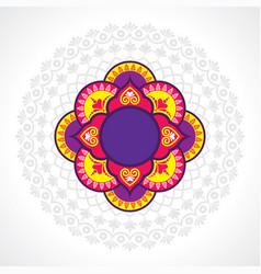 Diwali utsav greeting or poster card vector