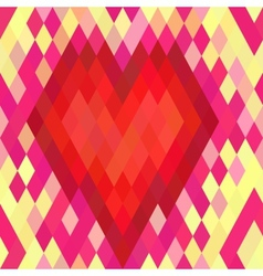 Geometric heart seamless pattern vector