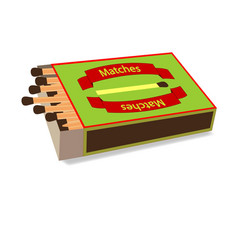Top view matchbox on white vector