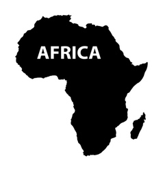 Map of africa on white background vector