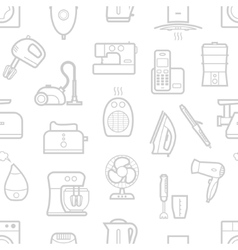 Seamless pattern of home appliances icons vector