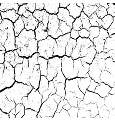 Cracked clay ground into the dry season vector