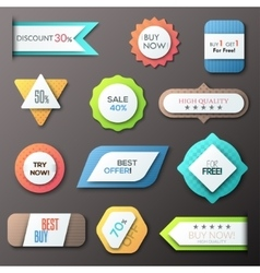 Modern infographic option banner vector