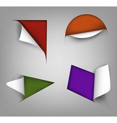 set of four paper corner vector image