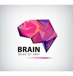 Crystal brain logo icon vector