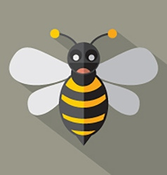 Modern flat design bee icon vector