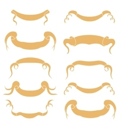 Set of peach ribbons vector