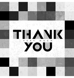 Thank you monochrome tiles vector