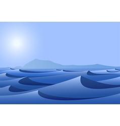Blue desert vector
