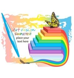 art design background vector image