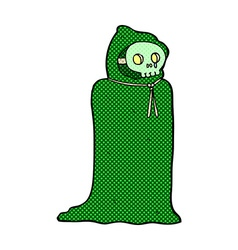 Comic cartoon spooky halloween costume vector