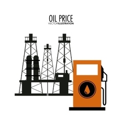 Oil price design vector