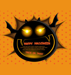 abstract fat bat halloween background vector image vector image