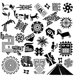 Ancient America set small vector image vector image