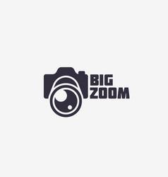 big zoom logo vector image vector image