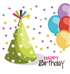 Birthday hat party celebration vector