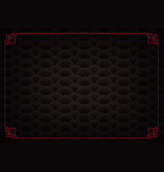 black shell overlap chinese abstract background vector image