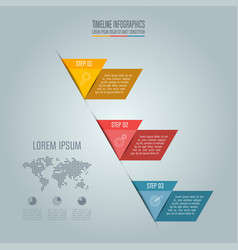 business concept with 3 options steps or vector image