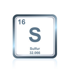 Chemical element sulfur from the periodic table vector