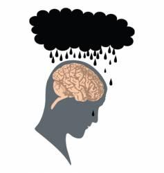 depression vector image vector image