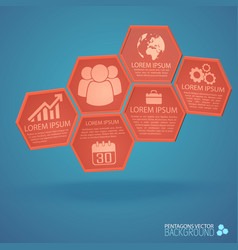 design from hexagons business infographics vector image vector image