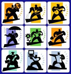 educational icon set vector image