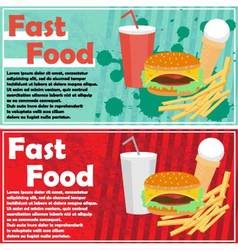 fast food flyer vector image vector image