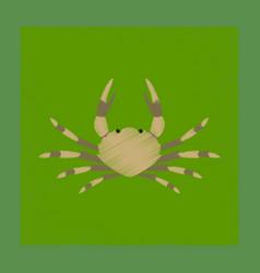 flat shading style animal crab vector image vector image