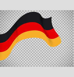 germany flag on transparent background vector image vector image