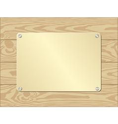 golden plate vector image vector image