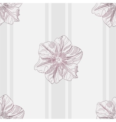 Hand-drawing floral seamless pattern vector image vector image
