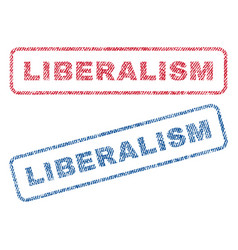Liberalism textile stamps vector