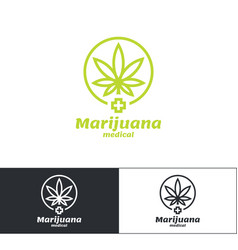 marijuana medical logo vector image