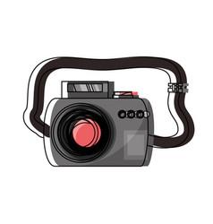 Photographic camera icon vector