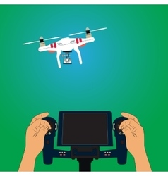 Quadcopter and remote control vector image
