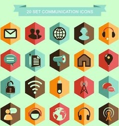 Set communication icons vector