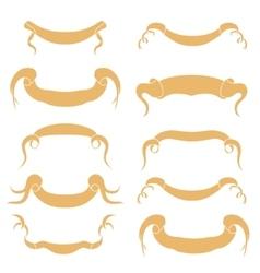 Set of peach Ribbons vector image