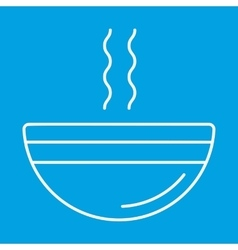 Soup thin line icon vector image