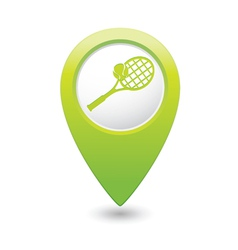 tennis1 GREEN map pointer vector image vector image