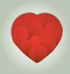 Valentines Day card with hearts and place for text vector image