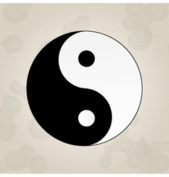Ying yang japanese tattoo vector
