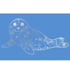 Seal pup silver vector image