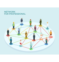 Network professional isometric concept vector