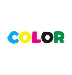 color paint logo vector image