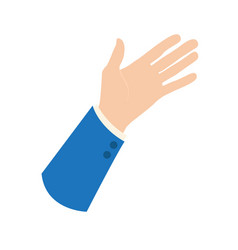 Businessman hand icon - presenting sign opened vector