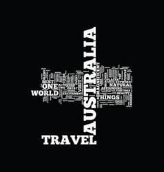 Australia travel text background word cloud vector